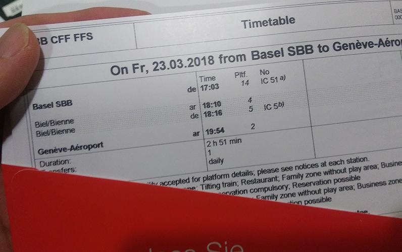 スイス出張 バーゼルワールド